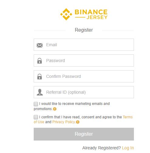 binance jersey referral registration