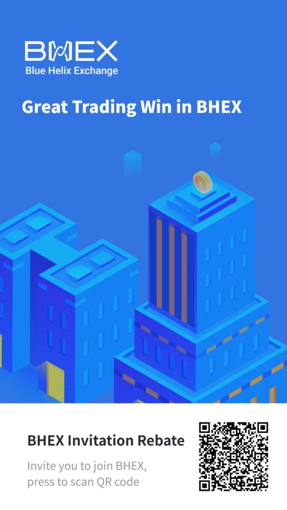 BHEX Invitation Code earn 30% + 5% Rebate on Exchange 1 invite poster