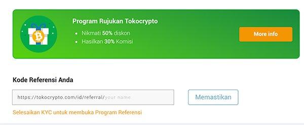 Tokocrypto referral code program