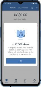 free twt coins credited