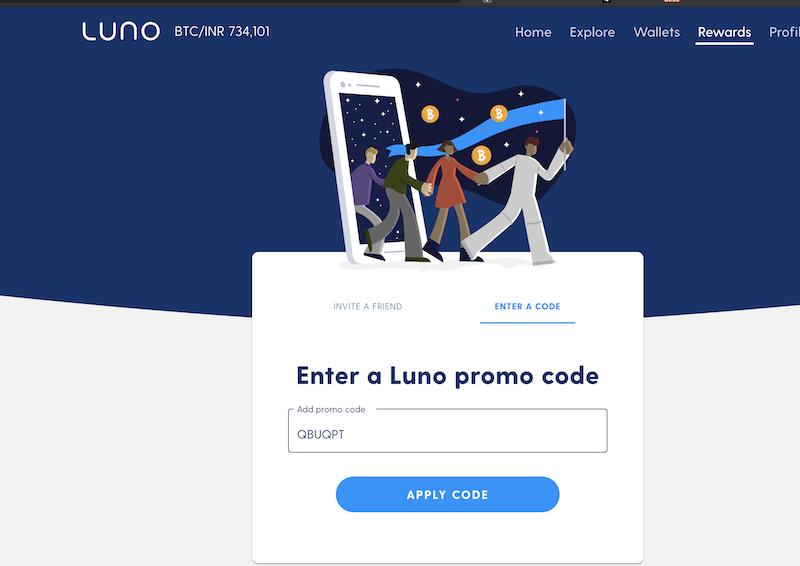 luno promo code: QBUQPT