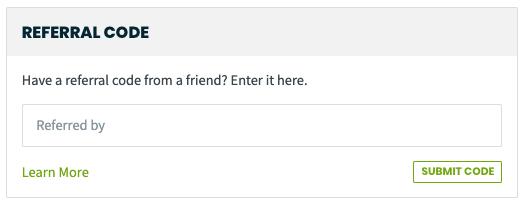Get jobber referral code option